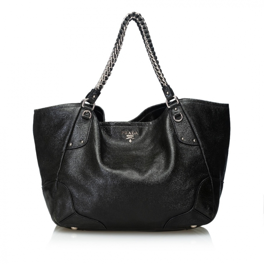 ef8c716a6960 Prada - Cervo Lux Leather Chain Tote Bag   MyPrivateDressing. Buy ...