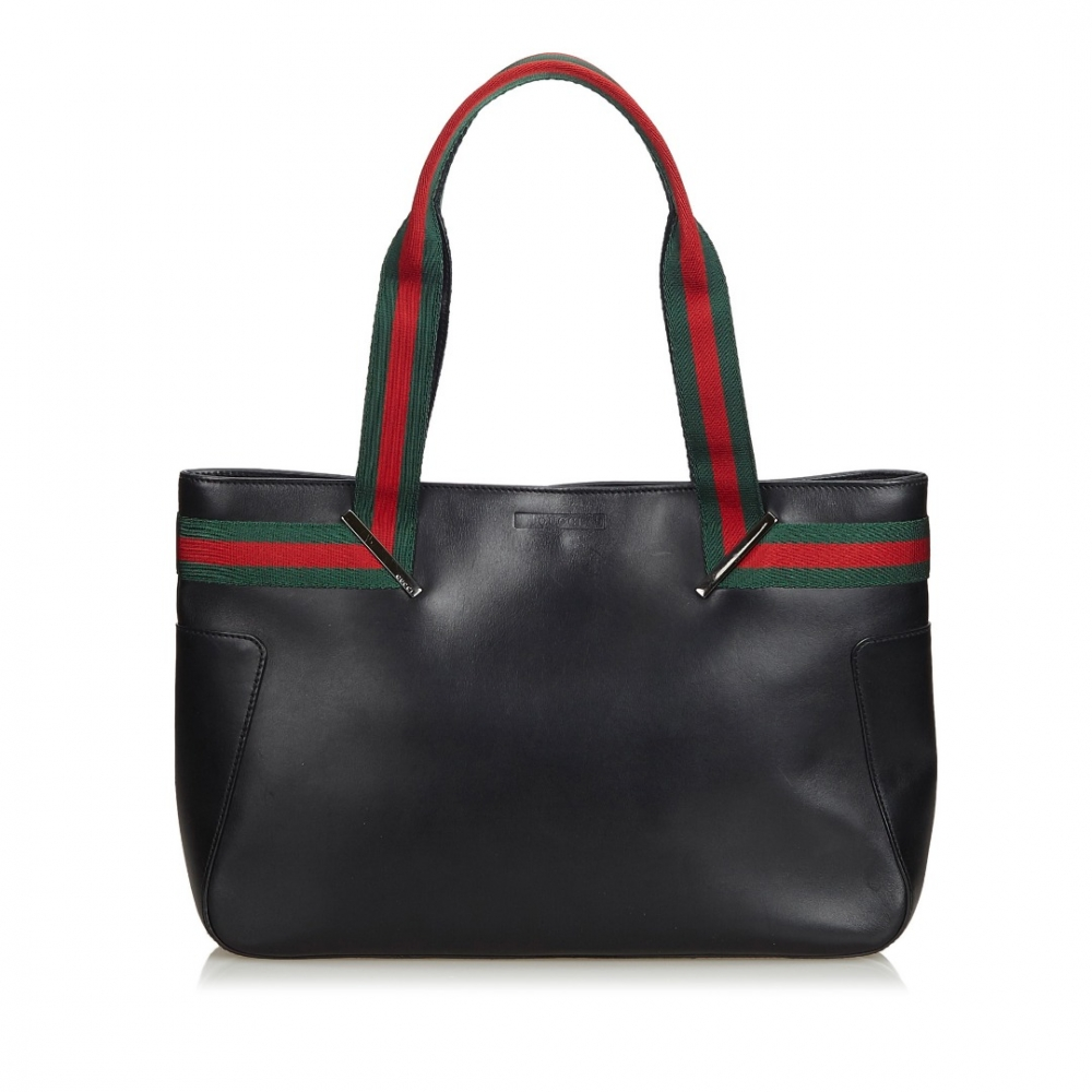 706951e2563961 Gucci - Web Leather Tote Bag : MyPrivateDressing. Buy and sell ...