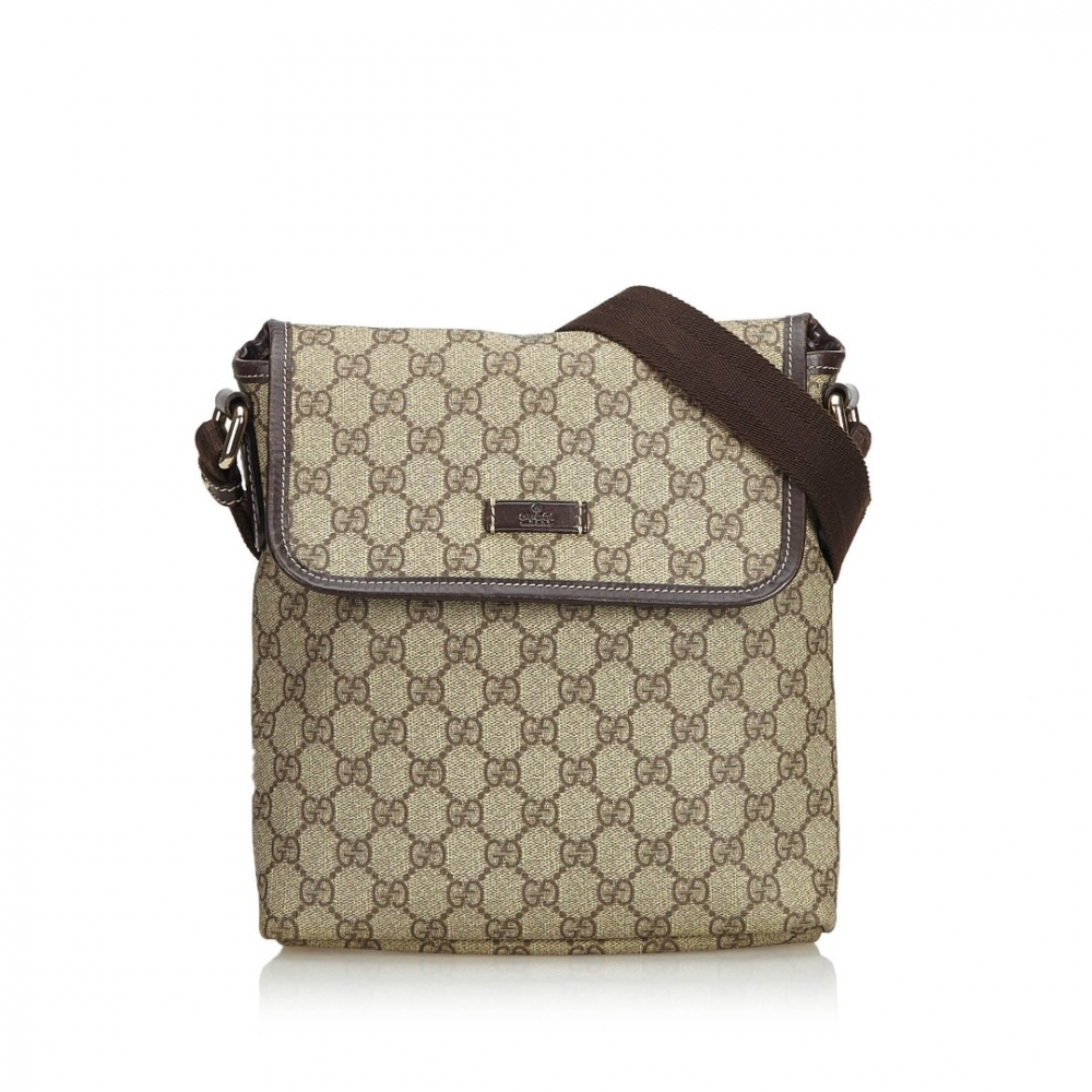 edc3fa057f0b Gucci - Coated Canvas GG Supreme Crossbody Bag : MyPrivateDressing ...