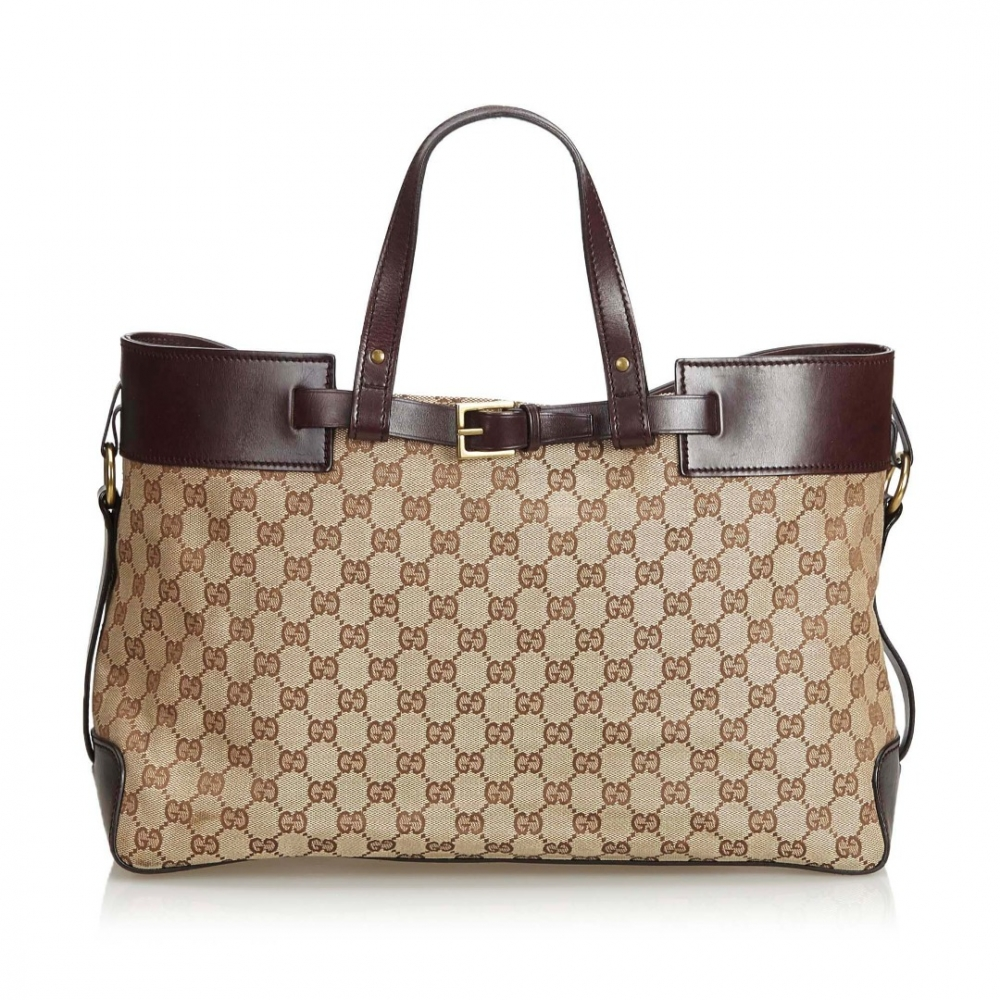 ad1ce2eafe32 Gucci - GG Jacquard Tote Bag : MyPrivateDressing. Buy and sell ...