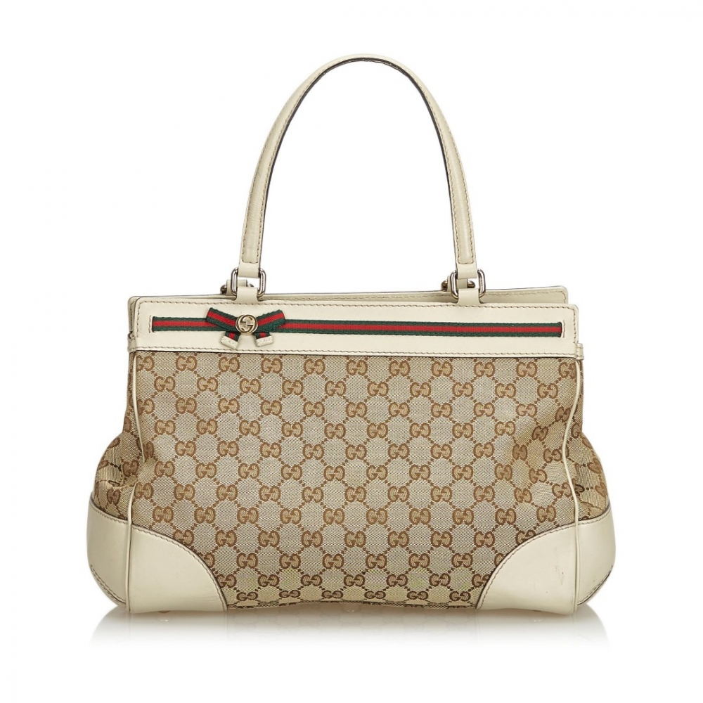 d871c10533bd Gucci - GG Jacquard Mayfair Tote : MyPrivateDressing. Buy and sell ...