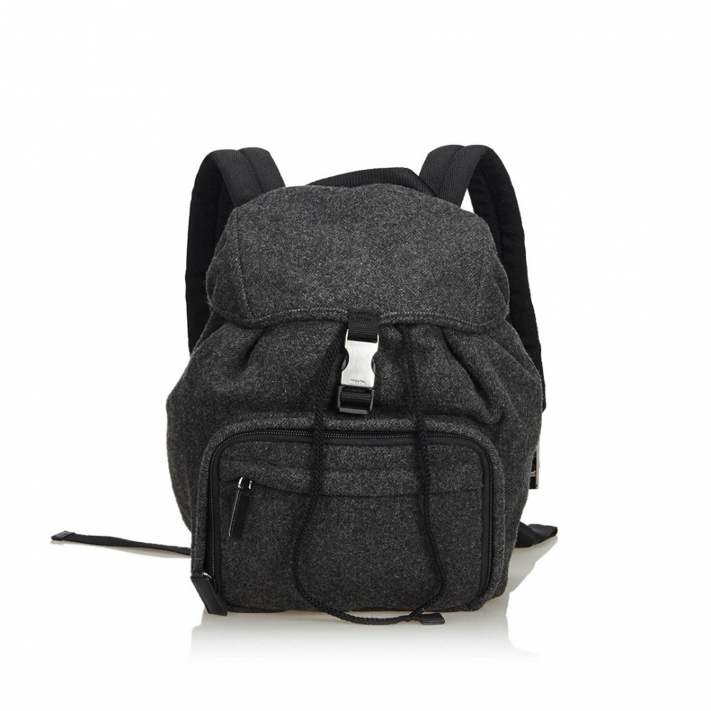 849ab925eb077 Prada - Wool Drawstring Backpack   MyPrivateDressing Schweiz. Kaufen ...