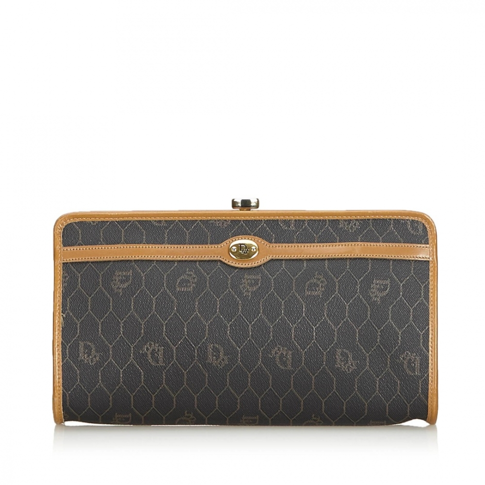 7d8a04aaa4 Christian Dior - Honeycomb Coated Canvas Clutch Bag ...
