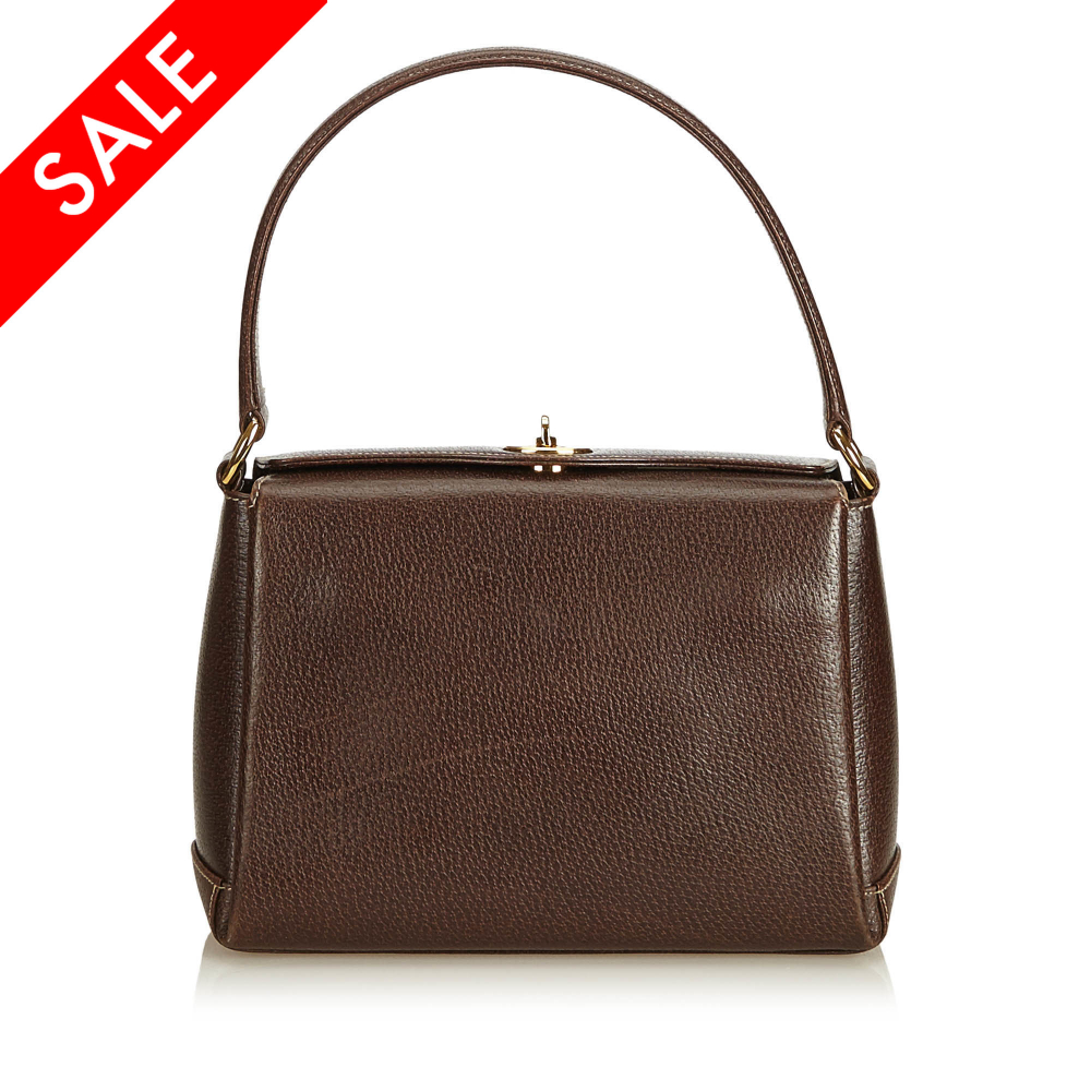 bb9cb221e Gucci - Leather Handbag : MyPrivateDressing. Buy and sell vintage ...