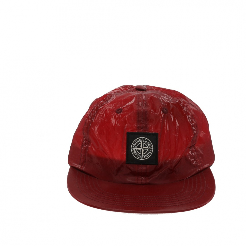 8fdcd7625 Stone Island - Supreme Stone Island New Silk Light 6-Panel Red Cap ...