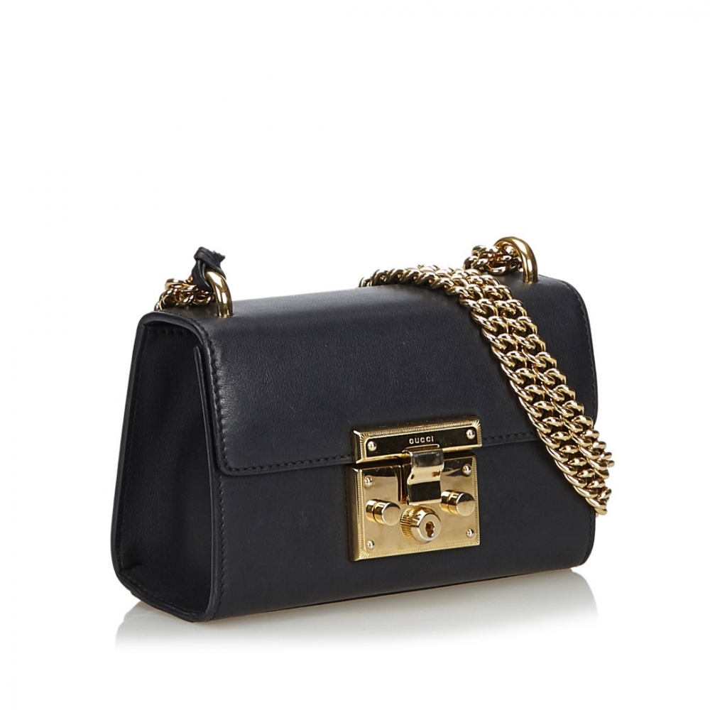 26161fdd02 Gucci - Leather Small Padlock Shoulder Bag : MyPrivateDressing. Buy ...