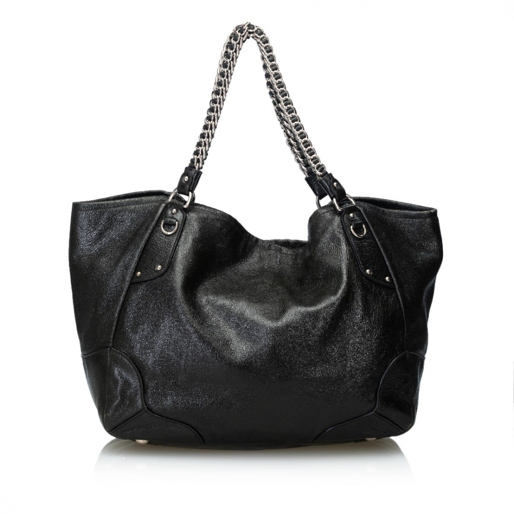 3f655aac16a9 Prada - Cervo Lux Leather Chain Tote Bag   MyPrivateDressing. Buy ...