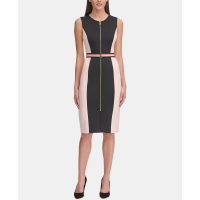Tommy Hilfiger Women's 'Scuba Zip-Front Sheath' Dress