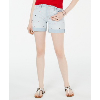Tommy Hilfiger Shorts 'Logo-Embroidered Cuffed' pour Femmes
