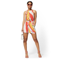 New York & Company 'Mixed Print Halter' Jumpsuit für Damen