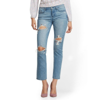 New York & Company 'Jeweled Destroyed Straight Leg' Jeans für Damen