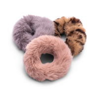 Zoë Ayla 'Faux Fur Scrunchies' Set - 3 Units