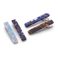 Zoë Ayla 'Long Marbled Hair Clips' Set - 4 Units