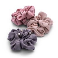Zoë Ayla 'Pearl Scrunchies' Set - 3 Units