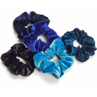 Zoë Ayla 'Velvet Scrunchies Variety' Set - 5 Units