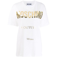 Moschino 'Metallic logo' T-Shirt für Damen