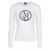 Armani Jeans Women's 'Figure-Hugging' Long-sleeve T-Shirt