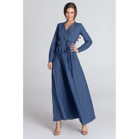 Nife Women's 'Wrap-over' Maxi Dress
