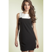 Nife Women's 'Contrasting Colour Detail & Sleeveless' Dress