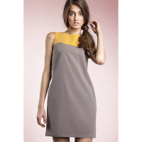 Nife Robe 'Contrasting Colour Detail & Sleeveless' pour Femmes