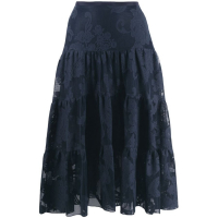 See By Chloé Women's 'Floral mesh' Skirt