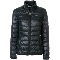 EA7 Emporio Armani Women's 'Printed logo zipped' Down Jacket