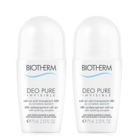 Biotherm Set 'Deo Pure Invisible 48h Roll-on' - 75 ml, 2 Unités