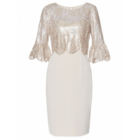 Gina Bacconi Women's 'Mina Crepe And Lace' Dress