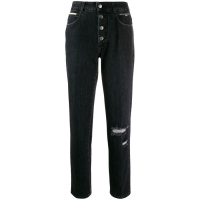 Stella McCartney 'Worn effect high waist straight' Jeans für Damen