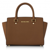 MICHAEL Michael Kors 'Selma' Medium Top-Zip Satchel 18K