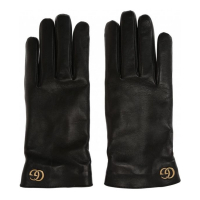 Gucci Men's 'Brass logo' Gloves