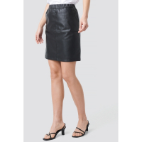 NA-KD Party Women's 'Pu Zip' Mini Skirt