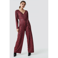 NA-KD Women's 'Leo Wrap' Jumpsuit