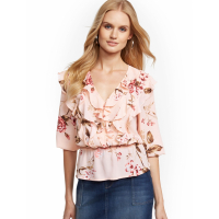 New York & Company 'Ruffled Peplum Top Soho Soft' Bluse für Damen
