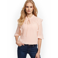 New York & Company 'Clip Dot Ruffled' Bluse für Damen