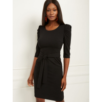 New York & Company Women's 'Puff Sleeve Belted' Dress