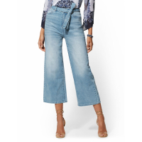New York & Company 'High Waisted Crop Wide' Jeans für Damen