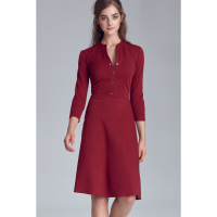 Nife Women's 3/4 Long-Sleeved Dress