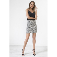 Urban Touch Women's 'Lepard Jacquard Mini' Skirt