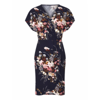ISKA 'Bouquet Print Wrap Effect Dress' Kleid für Damen