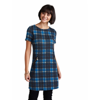 Yumi Women's 'Zip Pocket Check Tunic' Dress