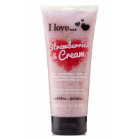I Love 'Smoothie Strawberries & Cream' Exfoliating Shower Cream - 200 ml