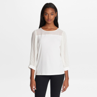 Karl Lagerfeld Women's 'Three Quarter Pleated Sleeve' Blouse