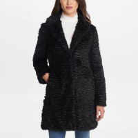 Karl Lagerfeld Women's 'Knotch Collar Astrakhan' Coat