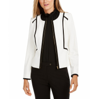 Calvin Klein Women's 'Piped Zip-Front' Jacket