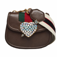 Gucci Women's 'Crystal Heart' Shoulder Bag
