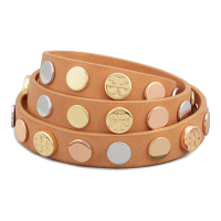 Tory Burch Women's 'Logo Studded Triple Wrap' Bracelets