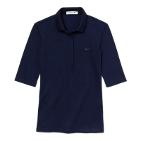 Lacoste Women's 'Slim Fit Stretch Mini Piqué' Polo Shirt