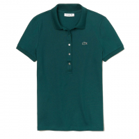 Lacoste Women's 'Slim Fit Stretch Mini Cotton Piqué' Polo Shirt