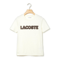Lacoste T-shirt 'Crew Neck Check Lacoste Badge Lightweight Cotton' pour Femmes